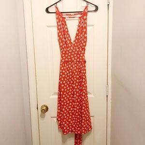 Marc by Marc Jacob red and white floral wrap dress